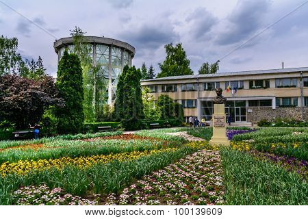Iasi, Romania - June 28, 2015: Beautiful Decorative Flowers In Front Of Main Entrance Of  Botanical