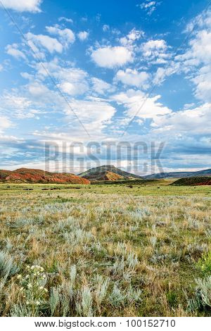 foothills of Rocky Mountains in Colorado - late summer in Red Mountain Open Space near Fort Collins