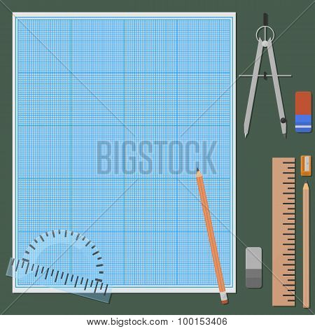 Accessories for mechanical drawing