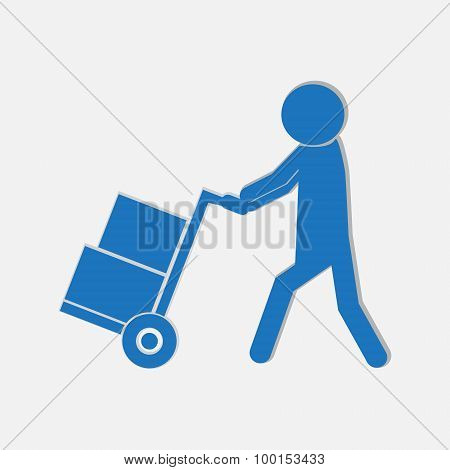 Handcart Symbol Illustration