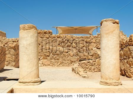 Ruins of ancient colonnade