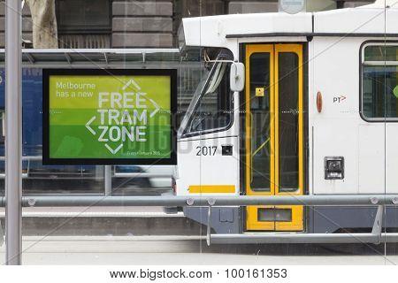 Free tram zone in Melbourne