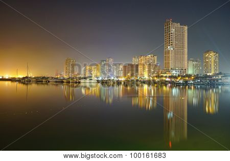 Night View Of Manila Bay