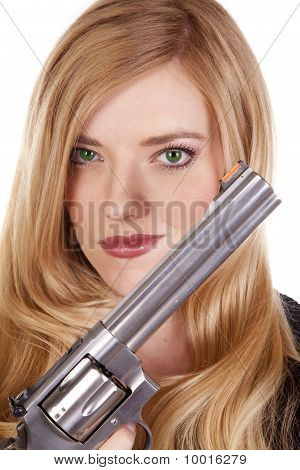 Blond Head Shot With Gun