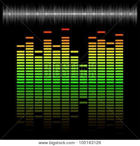 Equalizer Scale With Reflection And Chart