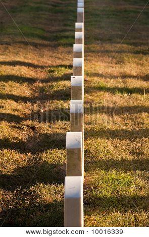Row Of Grave Stones In Arlington