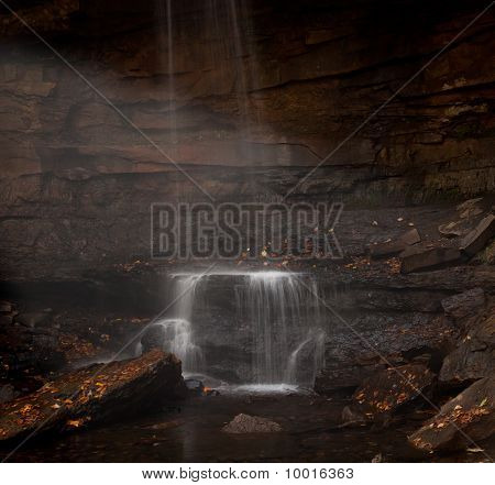 Veil Of Water Over Cucumber Falls