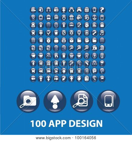 100 app design glossy buttons