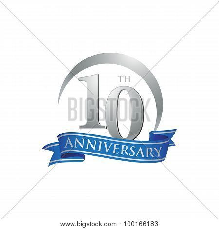 10th anniversary ring logo blue ribbon