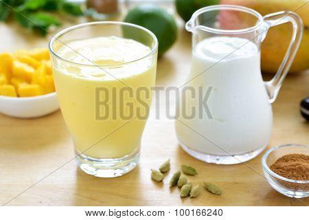 Mango Lassi Smoothie Drink.