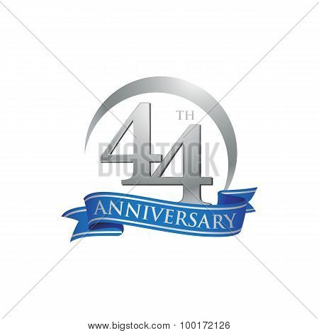 44th anniversary logo template.  Creative design. Business success poster