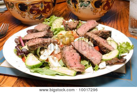 Salad With Peppered Beef