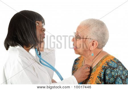 Young African American Nurse Or Doctor