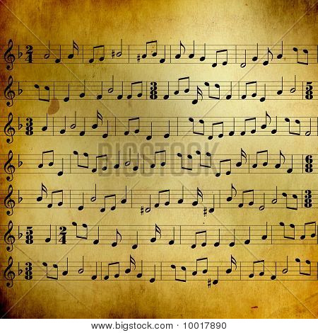 Music Sheet With Notes