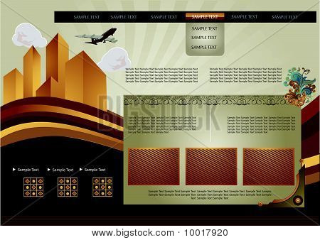 retro website template vector