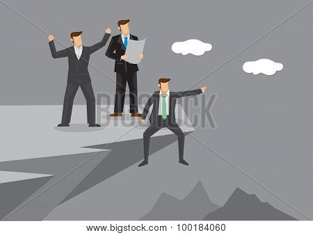 Businessman Discussing About Development Vector Illustration