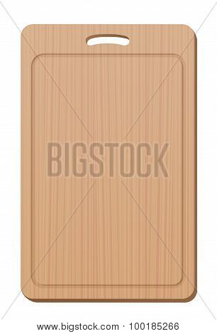 Cutting Board Wood Grip Upright Blank Simple Cooking Utensil