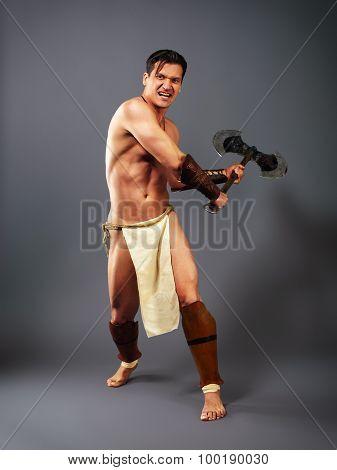 Ancient Warrior. Kick Axe