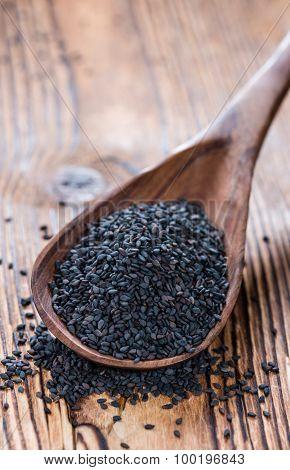 Portion Of Black Sesame