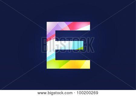 E letter vector logo icon symbol