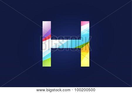 H letter vector logo icon symbol