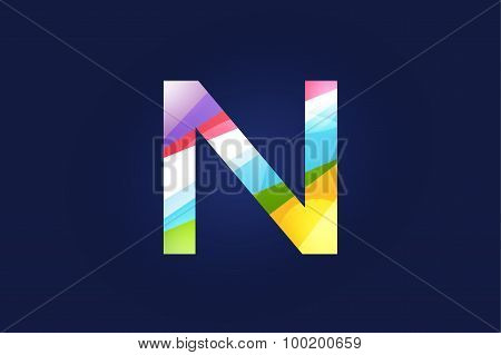 N letter vector logo icon symbol