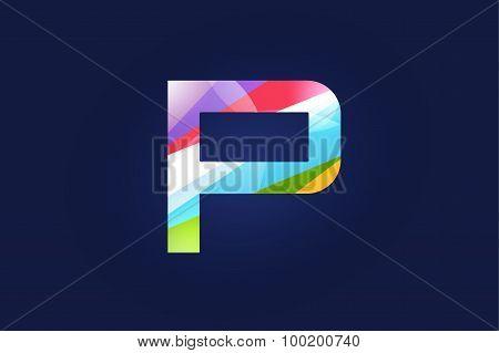 P letter vector logo icon symbol