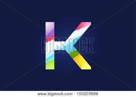 K letter vector. K logo icon template. K symbol silhouette. K isolated icon, K line style letter, K logotype, K logotype, K modern symbol, K company name brand.