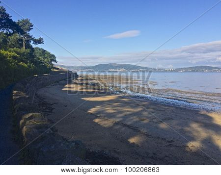 A beach in the shade in Cultra Holywood County Down