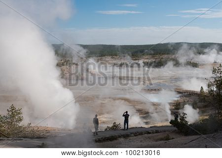 Norris Geyser Basin Steamy Morning