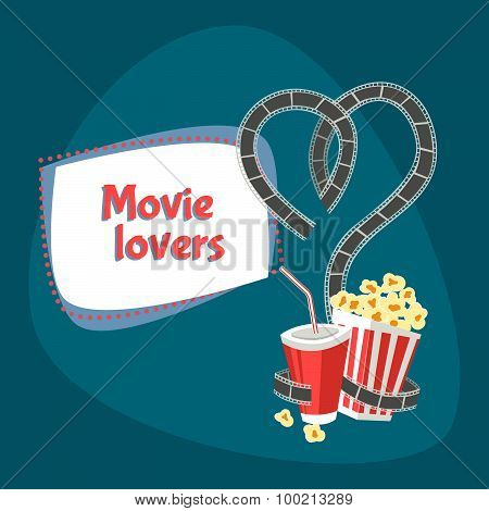 movie lovers illustration