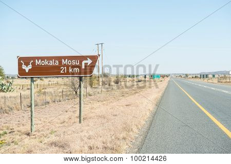 Road Sign To The Mokala National Park