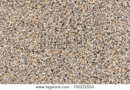 Colorful exposed aggregate concrete