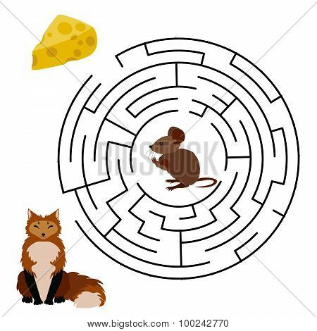 Labyrinth education Game for Children.