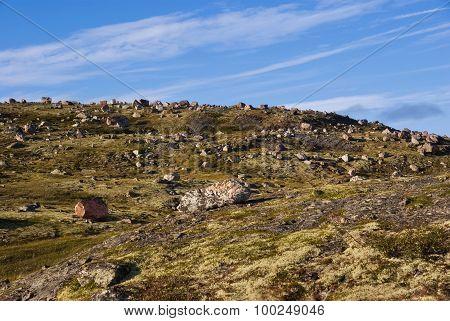 Landscape of Musta Tunturi. Ridge on the Kola Peninsula Russia poster
