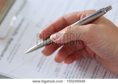 Hand Of Businesswoman