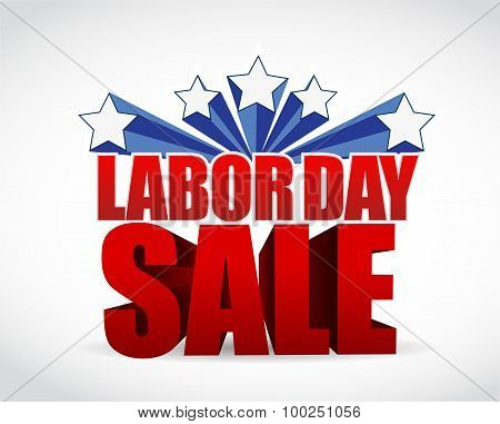 Labor Day Sale Sign Illustration Design