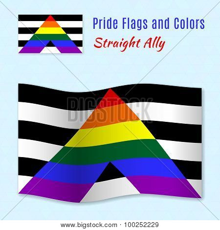 Straight Allies Pride Flag With Correct Color Scheme