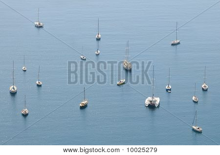 Boats And Yachts From Above