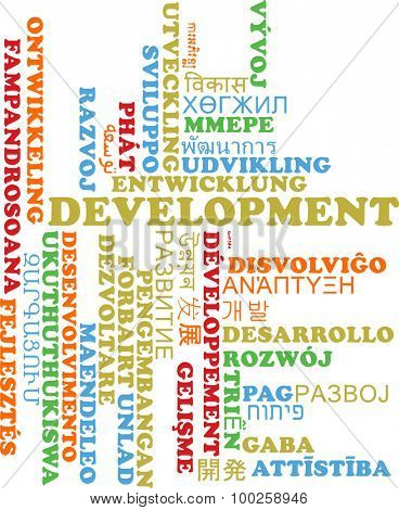 Background concept wordcloud multilanguage international many language illustration of development