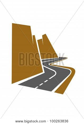 Winding mountain road or highway