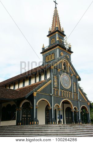 Kontum Wooden Church, Ancient Cathedral, Heritage