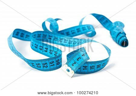 Image blue untwisted measuring tape