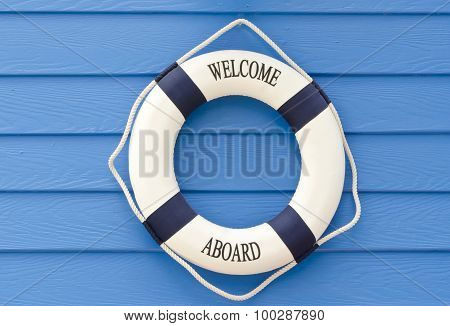 Life Buoy  Welcome Aboard Sign