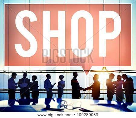 Shop Shopping Department Marketing Commerce Concept poster