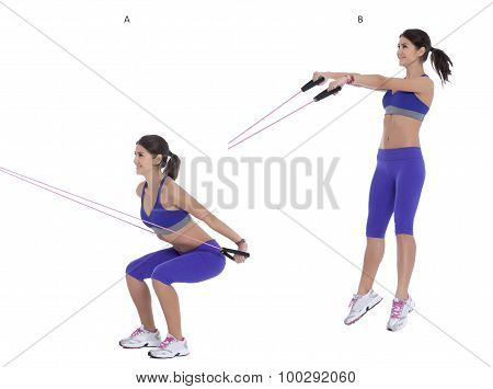 Cable Jumping Squat