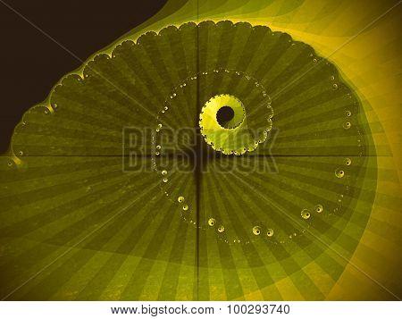 Abstraction fractal spiral
