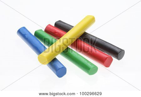 Colorful Plasticine, Plasticine Toy On White Ground