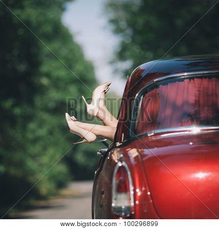 Girl In Red Car