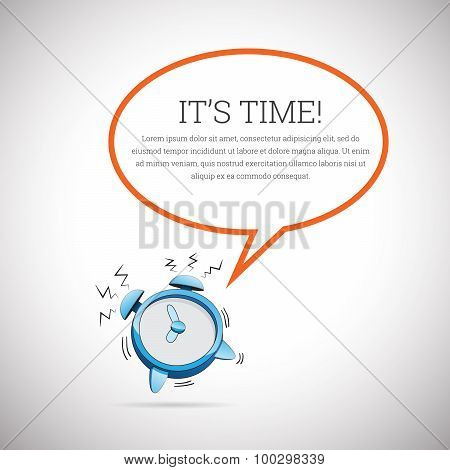 Clock Talk Bubble Copyspace